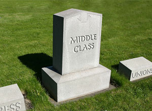 The American Middle Class Tombstone