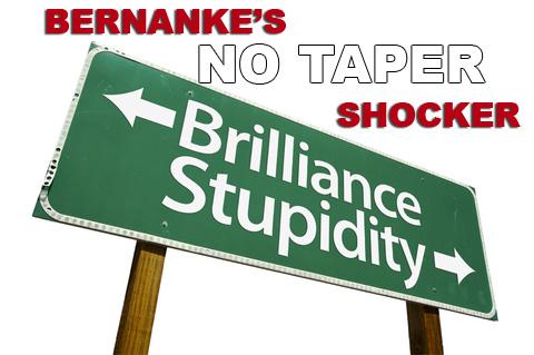 "The Fed Stands Pat On Bond Buying - Bernanke's ""No Taper"" Shocker"