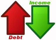 Substituting Debt for Income Is Not Success - It's Failure on an Epic Scale