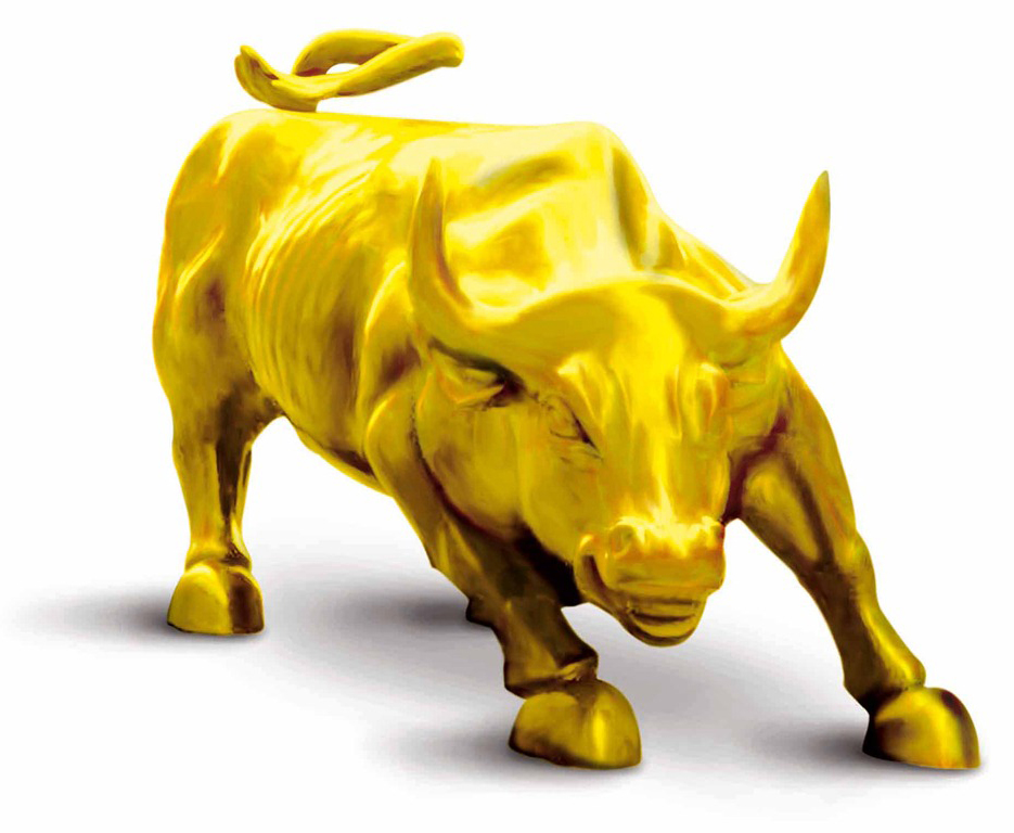 Image result for gold bull pictures